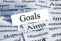 Goals concept Stock Photos