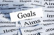 Stock Photo of goals concept