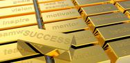 Stock Illustration of success of gold