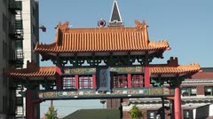 Seattle Chinatown Gate 1 Stock Footage