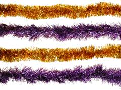 Christmas artificial tinsel decoration Stock Photos