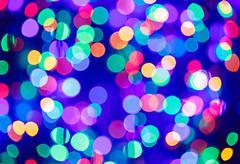 Multicolor bokeh circle background (illumination garland decoration) Stock Photos