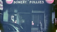 Sammy's Bowery Follies BAR BOWERY NYC Skid Row 40s Vintage Film Home Movie 4748 Stock Footage