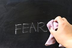 Wiping off fear Stock Photos