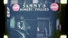 Sammy's Bowery Follies BOWERY NYC 1940s (Vintage Retro Film Home Movie) 4750 Stock Footage