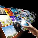 Stock Illustration of hand reaching images streaming as internet concept