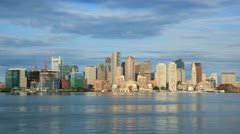 Timelapse of Boston Skyline in Massachusetts - stock footage