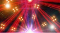Spectrum lights Concert Spot Bulb 12 Stock Footage