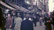 NYC CROWD Street Scene Walk People 1940s (Vintage Retro Film Home Movie) 4755 Stock Footage