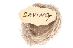 Stock Photo of saving concept