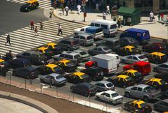 rush hour traffic - stock photo