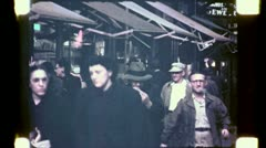 NYC CROWD Bowery Canal Street Scene 1940s (Vintage Film Home Movie) 4756 Stock Footage