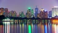 City at night Bangkok, Thailand with beautiful light. Stock Footage