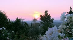 Sunset in Tuscany / Italy Stock Footage