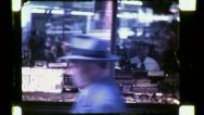 NYC CROWD Street People Jewelry District 1940s (Vintage Film Home Movie) 4759 Stock Footage