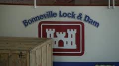 Bonneville Dam Stock Footage