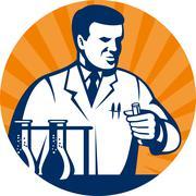 Tiedemies laboratoriovälineet koeputki Piirros