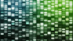 Cascading DNA strands Stock Footage