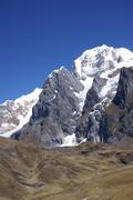 Glacier icefall in high andes Stock Photos