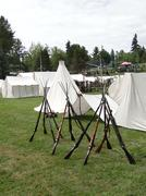 Tents in confederate camp, Stock Photos