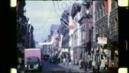 Stock Video Footage of CHINATOWN New York City Late 1940s (Vintage Old Film Home Movie Footage) 4763