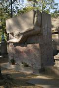 oscar wilde's tomb .. - stock photo