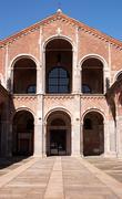 Basilica of sant'ambrogio in milan (italy) Stock Photos