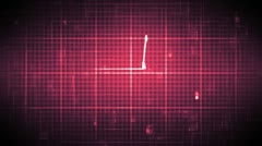Fast heart rate on moving grid background Stock Footage