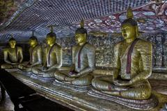 Several Buddha Statues - Sri Lanka - stock photo