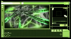 Stock Video Footage of Digital interface showing neuron moving through nervous system