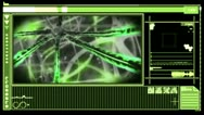 Digital interface showing neuron moving through nervous system Stock Footage
