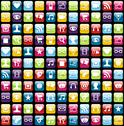 Stock Illustration of mobile phone app icons pattern background