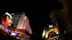 Las Vegas Strip Driving Shot at night Stock Footage
