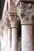 Stock Photo of detail, medieval capitals