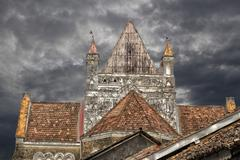 Galle, Church, Sri Lanka, HDR - stock photo