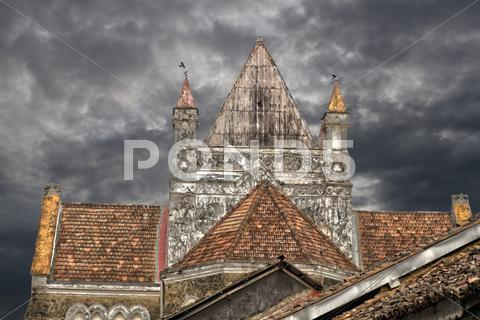 Stock photo of Galle, Church, Sri Lanka, HDR