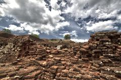 Ruins, Sigiriya, Dramatic HDR Shot - stock photo