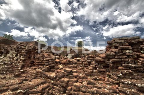 Stock photo of Ruins, Sigiriya, Dramatic HDR Shot