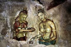 Naked Woman, Sigiriya, Dramatic HDR Shot 1 - stock photo
