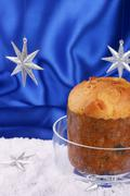 panettone: typical christmas italian cake - stock photo