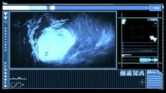 Digital interface showing blood flowing through vein Stock Footage