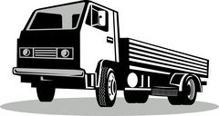 Truck viewed from a low angle Stock Illustration