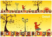Stock Illustration of seasons collection: autumn