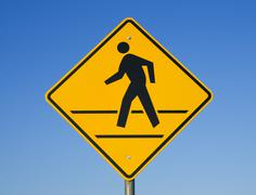 crosswalk sign - stock photo
