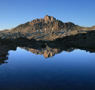 Mount humphreys reflection Stock Photos