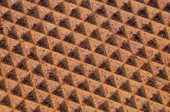 rusty metal pattern - stock photo