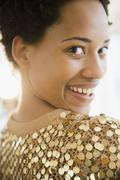 Glamorous African American woman - stock photo