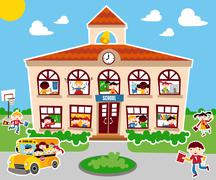 back to school concept background - stock illustration
