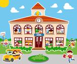 Back to school concept background Stock Illustration