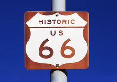 Stock Photo of historic us route 66 sign